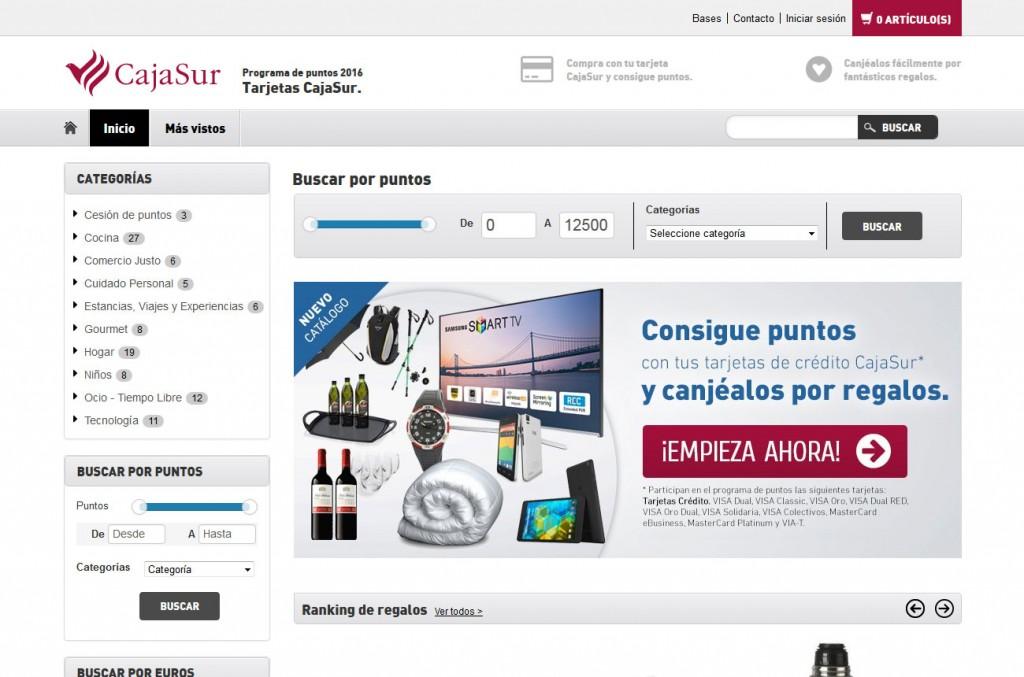 Programa de Fidelización con Catálogo de Puntos Cajasur | Promociones Haizea