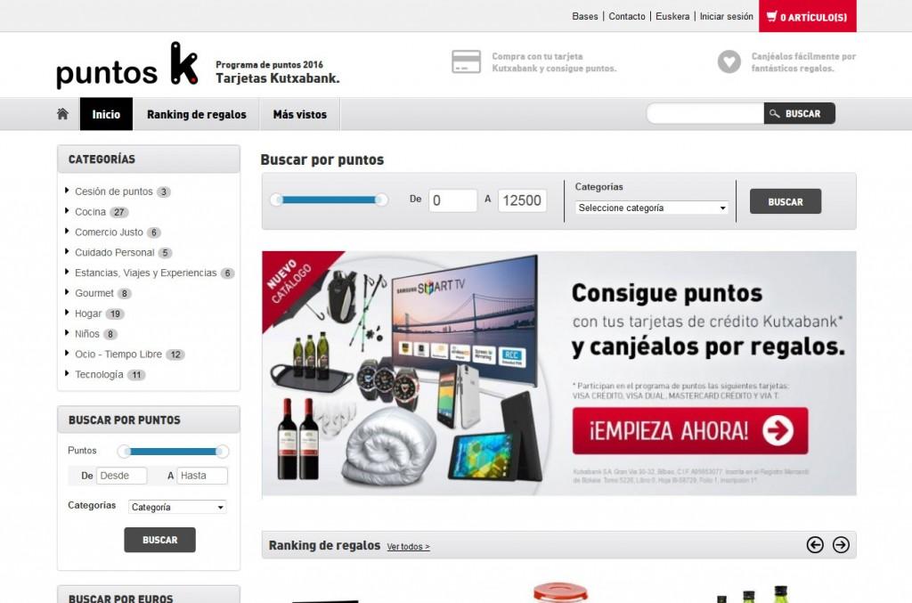 Programa de Fidelización con Catálogo de Puntos Kutxabank | Promociones Haizea